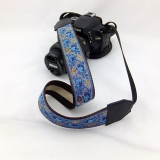 Camera strap can print personalized custom leather stitching national wind embroidery pattern 024