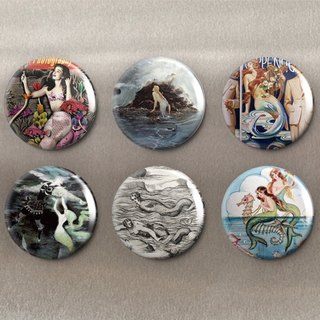 Mermaid - magnet (6 in) ︱ badge (6 in) ︱ ︱ decorative and practical small things fashion accessories