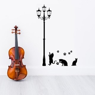 """Smart Design"" creative wall stickers cat ◆ incognito under the lights (150 cm high) 8 color options"