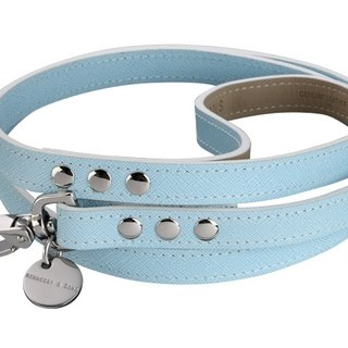 H & amp; S Hennessy & Sons - Saffiano [baby blue] Oxford leather leash