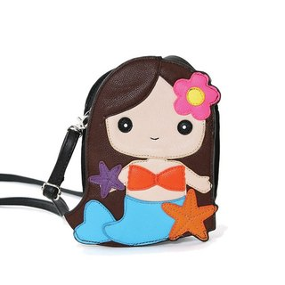 Sleepyville Critters - Adorable Mermaid Girl Shoulder Crossbody Bag