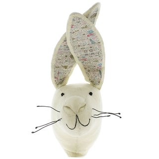 [Fiona Walker England] British style fairy tale animal head handmade Mural - Alice in Wonderland series - a small rabbit (White Rabbit)