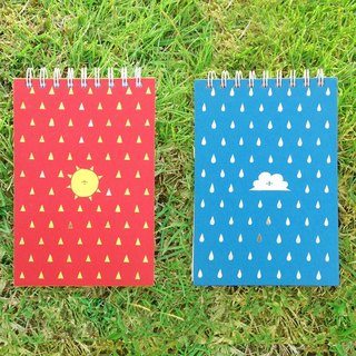 Between Rain / Double Cover Spiral Notebook