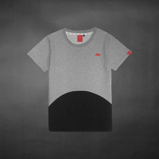 On the gray under the black semicircle mosaic Tee - only XXS, M number