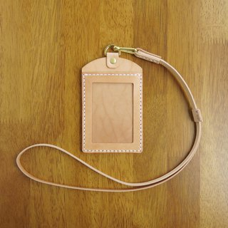 Professional Straight Identification Card Holder, Document Holder Primary Color Leather [Jane One Piece]