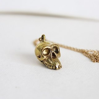 Half Jaw Monkey Skull Necklace/ Pendant