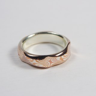 Element 47 Jewelry studio~ mokume gane ring  32  (silver/copper)
