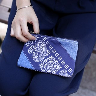 Denim Patchwork Pouch