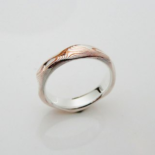 Element 47 Jewelry studio~ mokume gane ring 19   (silver/copper)