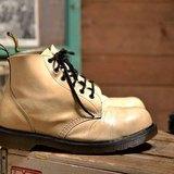 Vintage 英國Dr. Martens 白色 6孔靴