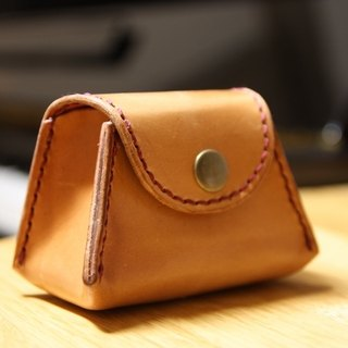 Hands-day month cowhide leather purse mass customized lettering free