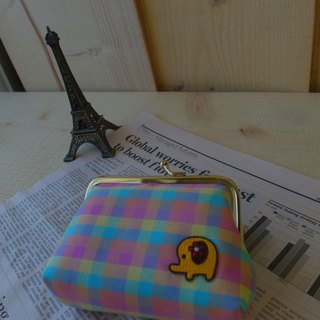 HiDots love ghostly wallet (fresh checkered * elephant)