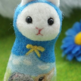 Wool Felt Rabbit Kiss Russian Doll Custom