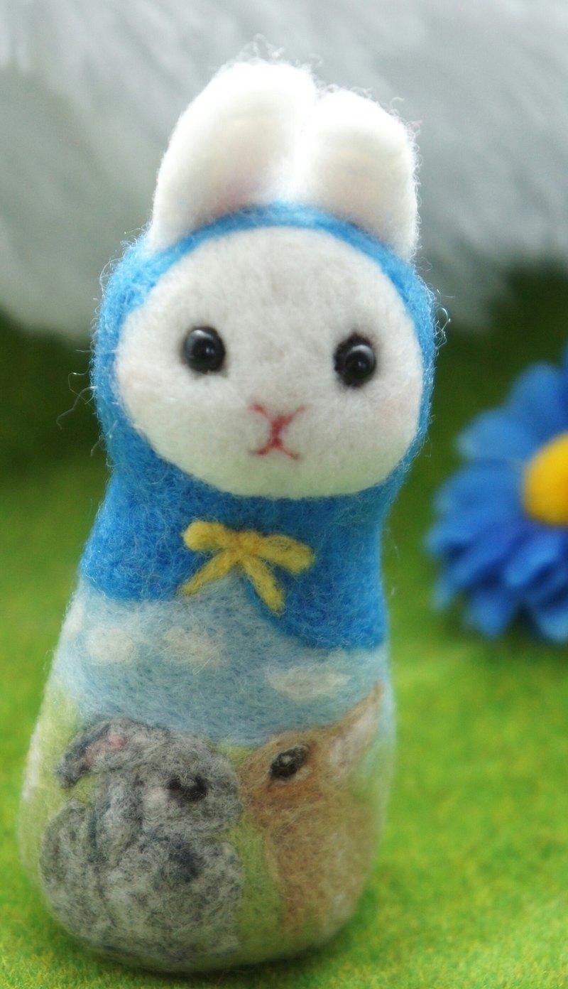羊毛氈兔子之吻俄羅斯娃娃 訂製
