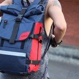 火柴木設計 Matchwood Rider 防水筆電後背包 17吋筆電夾層 藍紅款限定配色