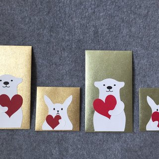 Bear and rabbit small envelopes into two groups (love)