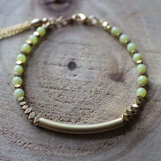 Muse natural wind series NO.83 peridot bracelet brass elbow