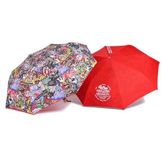 Filter017 折疊晴雨傘 - 炫目系列 Dazzle Shield Folding Umbrella Collection- COLORFUL PATTERN