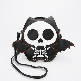 Sleepyville Critters-Skeleton Batty Bat Bat Cross body shoulder bag