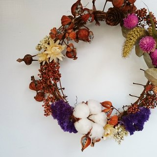 Moon peach dry wreath