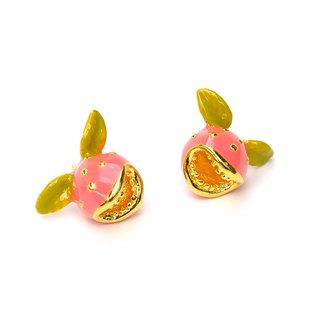 Glorikami Pink hunting flower earrings