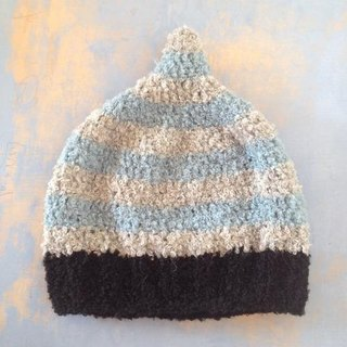alpaca LL  gnome beanie pixie australia sydney adult fluffy warm winter autumn present freewrapping surf lightblue blue stripe snow snowboard mountain ski