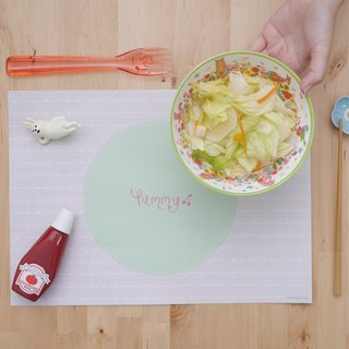 Yummy happy food light paper placemat 10 sheets (adding no increase)