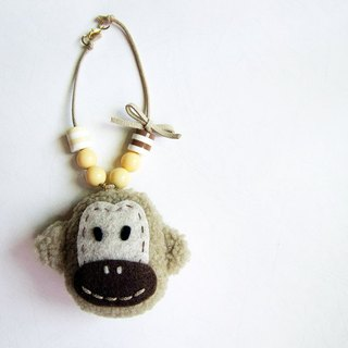 Pretty Pierces monkey strap - khaki color models