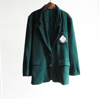 River Hill - Yuko dark green girl time love antique wool sheep wool wool coat jacket vintage wool vintage overcoat oversize