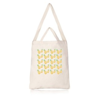Fruit Series pineapple Cultural & Creative wind straight canvas bag