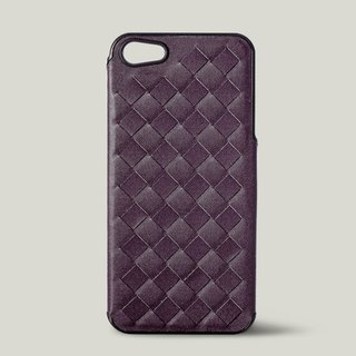 [Price Down Price Drops ↓] ivicase - iPhone 5 / 5S leather phone case - purple [knitting]