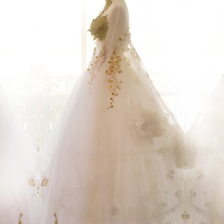 Sally F.Li Premium Custom Wedding Dress - Platinum Melody / Self-service Wedding Wedding Customization