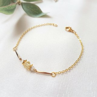 Lemon love jade ‧ fine crystal chain crystal bracelet