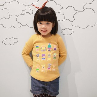 Childlike children's handmade fashion T-shirt - 12 small chairs