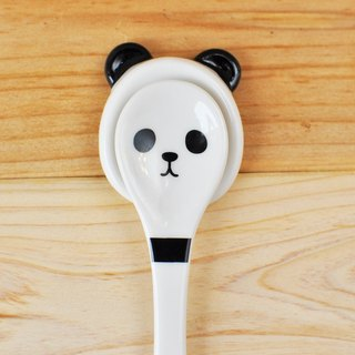[Japan] table Decole series of small things animal face pottery spoons & spoon rack set ★ Panda models