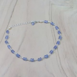 Tong Ling set record 925 sterling silver ornaments ~ {} natural spring section Tanzanite (Tanzanite) Handmade
