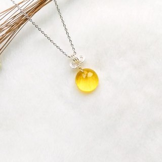Sweet Candy Candy Glass Necklace - Bright Yellow