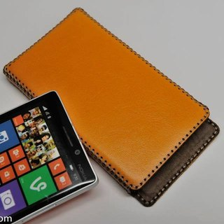 Nokia Lumia 930 leather holster straight