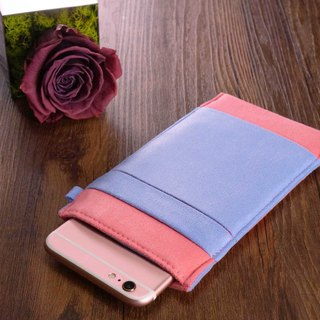 OM【GOLDEN PINK X TRANQUIL BLUE 】ONOR CLEANING-FIBER CELL PHONE POUCH
