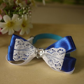 [Paragraph] sapphire safety pet collar x Small type lace love cats and dogs / Collar / tie / Jojo ♥ cherry pudding Cherry Pudding ♥