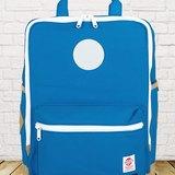 [SKUllTWO] 尼加拉藍 / 古著帆布 13吋筆電後背包 / 背帶加厚改良版