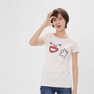 OK peach cotton T-shirt Women