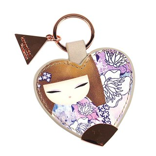❤ Australia Spring kimmidoll and blessing doll Sachie leather keychain (purple)