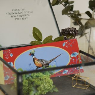 Tru'dini hydrangea ring-necked pheasant red X