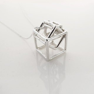 Turn Geometry series (925 sterling silver necklace) - C percent handmade jewelry