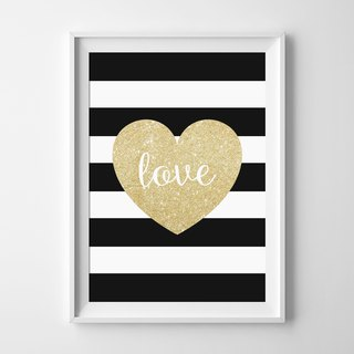 heart can be customized Hanging Poster