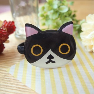 Meow - big cat face hairband - black and white