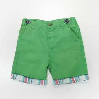 Small green cotton shorts