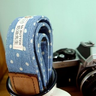 Camera strap. Shuiyu little cotton denim Handmade