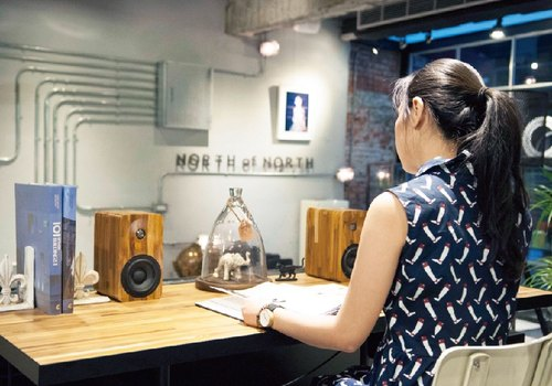 MINFORT | MIN16 handmade wood wireless Bluetooth stereo (year-end showpiece clearing) (teak)